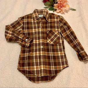 Don Juan Boys Flannel Shirt - 100% Cotton Sz 8